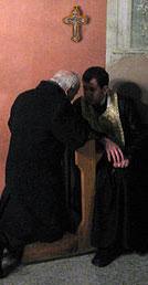 Penitent in Confession